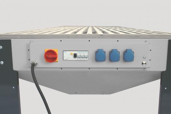 Elektroleiste für Schleiftisch