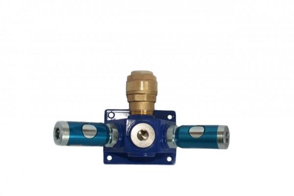 Druckluftzubehör - Verteilerblock mit Sicherheitskupplungen