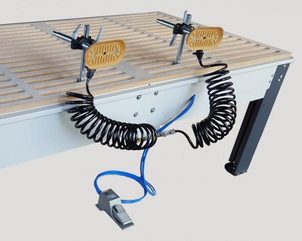 Vakuum Spannsystem für Schleiftisch - Detail Spannteller